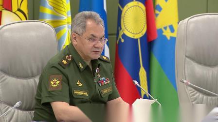 Селекторное совещание с руксоставом ВС РФ под руководством Сергея Шойгу