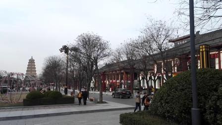 世界文化遗产:千年佛塔西安大慈恩寺大雁塔游人如织