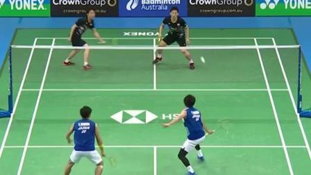 2019澳大利亚公开赛 韩国男双比赛中换拍