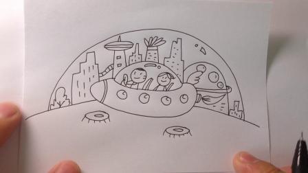 主题类简笔画:未来城市