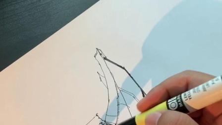 赵恒逸单体椅子手绘过程示范