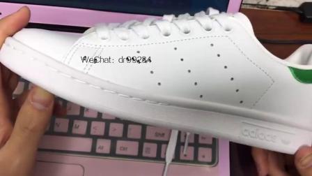 阿迪达斯 Adidas Smith三叶草史密斯绿尾小白鞋板鞋M20324 M20325 开箱上手评测什么是外贸特供