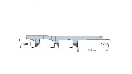 Ti桥架弯头制作教程3个30度组成90度精确计算做法