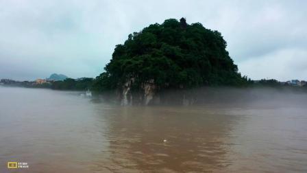 大美桂林,象山晨雾