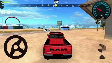 疯狂汽车驾驶和城市特技道奇1500安卓游戏