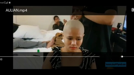 Short headshave in hotel asian girl