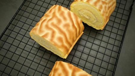 爱吃的虎皮蛋糕升级了! get新口味——紫薯——麻薯芋泥——肉松大亨教你做百变的戚风
