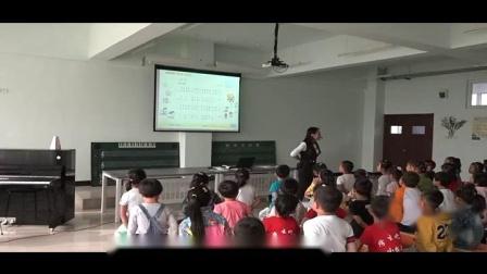湘文艺版小学音乐一年级上册第一课(音乐游戏)欢迎你-侯老师优质课视频(配课件教案)