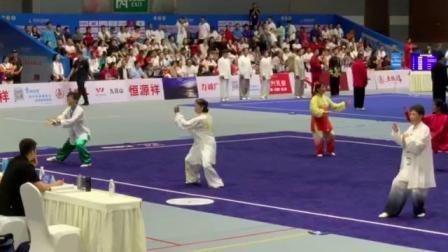 孙老师第八届世界传统武术锦标赛女子E组第一名