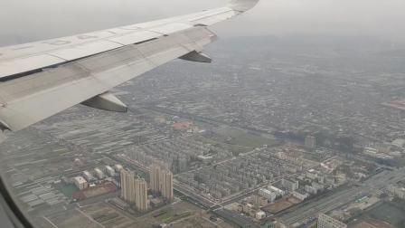 四川航空南宁到杭州,接近杭州萧山