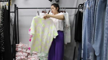 2019年最新精品女装批发服装批发时尚服饰时尚女士新款夏装大版T20件起批,视频款可挑款零售混批