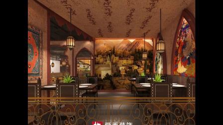 山东济南特色异域风格酒楼餐厅装修装饰设计施工效果图