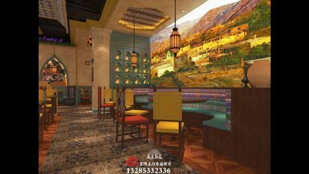 山东淄博特色异域风格酒楼餐厅装修装饰设计施工效果图公司