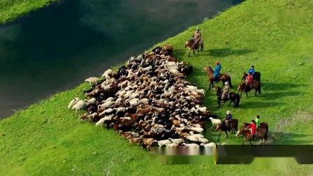 平原笛声《牧民新歌》配景