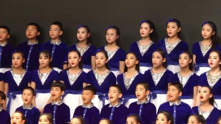 """<<春晓>>,<<我在西边,家在东边>>  农垦佳木斯学校参加2019年佳木斯市中小学""""百斯特""""杯校园艺术节合唱活动"""