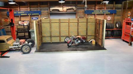 手工打造精美的模型车库