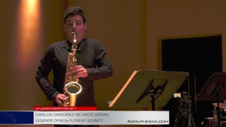 Londeix2017-Semifinal -Carlos Ordonez de Arce (Spain)-Legende op.66 by F.Schmitt