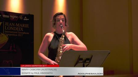 Londeix 2017 - Semifinal - Mary Osborn (Australia) - Sonate by Paul Hindemith