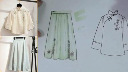 服装设计款式图上色(上)