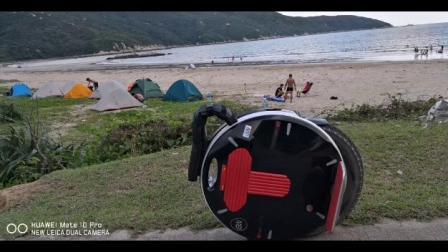 上川岛露营。