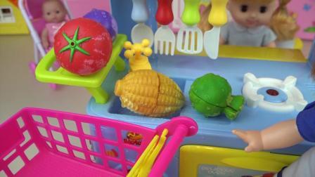 婴儿娃娃和玩具冰激凌和食品厨房玩婴儿玩具屋