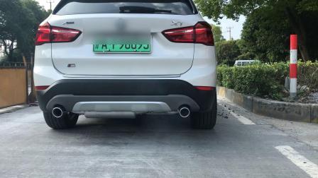 18款宝马X1 1.5T 油电混合动力版 Repose中尾段阀门款排气装车 关闭阀门路跑声音效果视频