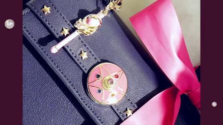 台湾代购Grace gift美少女战士少女心蝴蝶结手提包单肩包斜挎包女
