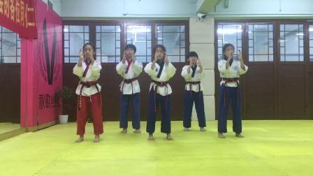 秋歌跆拳道品势教学(高丽第一条线)手部动作