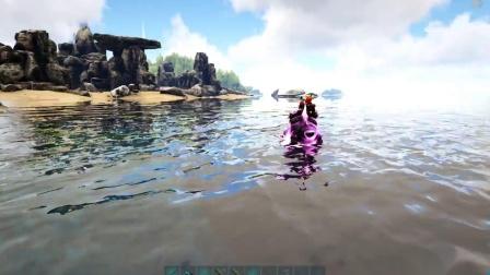 方舟生存进化-游泳比赛巨型水貂VS巨型狗狗谁能赢!
