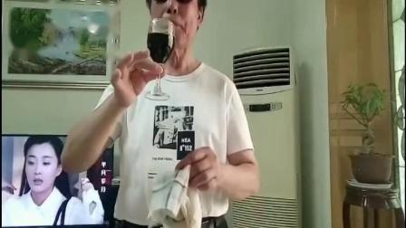 抛帕出红酒