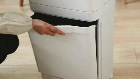 享家美日式厨房双层垃圾桶分类大号客厅厨房家用塑料创意脚踩酒店带盖干湿分类垃圾桶 (不带隔板)37L单盖垃圾桶