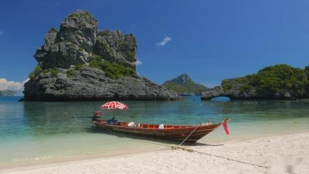 4K热带海滩 - 泰国 - 放松的海洋声音 - 日出&日落 - 超高清录影