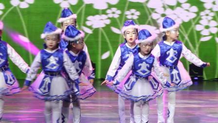 558号、雅兰、吴妮等、集体舞《五彩童年》、选送单位:塔娜艺术形体工作室、指导老师:托诺勒斤