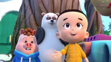 猪小豆向小伙伴们介绍大头儿子,不料小伙伴们都认识大头儿子!