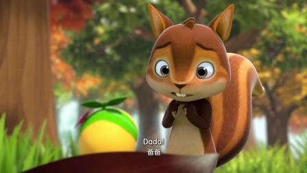 栗子里竟然有一只虫宝宝,小松鼠被当成了小虫的爸爸
