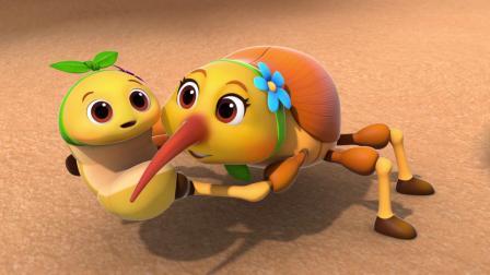 小松鼠和虫妈妈争夺虫宝宝,幸好小鸡提出建议