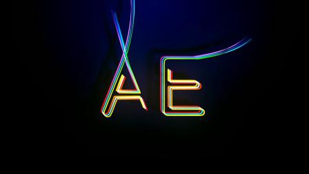 三维粒子线条文字 - AE