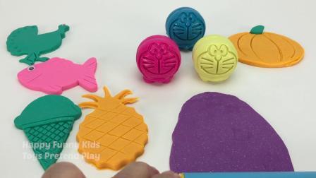 用冰激凌菠萝巴士模型学习颜色惊喜玩具车小朋友