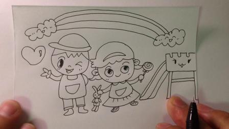 主题简笔画.我的幼儿园