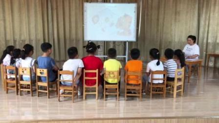 曹甸镇中心幼儿园罗莹大班语言《小小和啊呜的信》