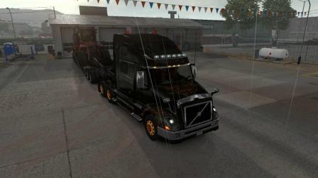 美国卡车模拟-沃尔沃VNL全程高速运输凯斯履带拖拉机