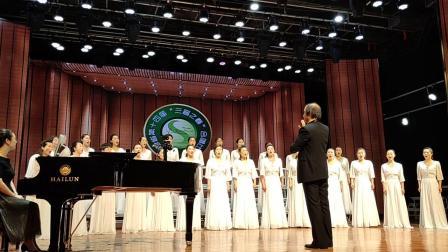 山西、河北民歌合唱音乐会上唐山红玫瑰合唱团演唱反对花等
