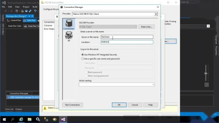 16 - Create an SSIS package in MS Visual Studio