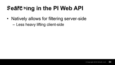 11 - Searching and filtering objects in PI Web API
