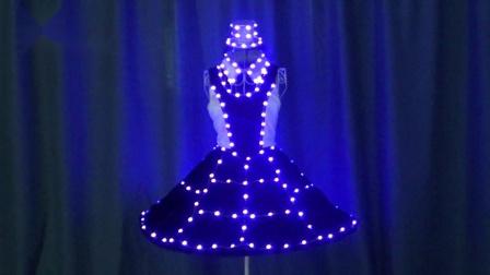 西方风格LED发光演出服,LED裙子,LED晚礼服,LED表演服
