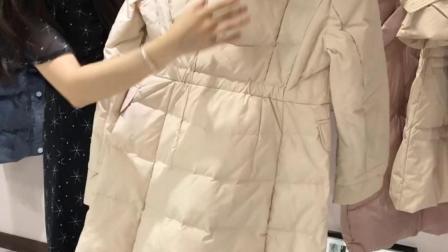 可丝迪羽绒服品牌女装折扣走份批发