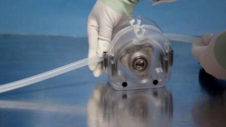 兰格KZ25泵头管接头方式软管安装过程