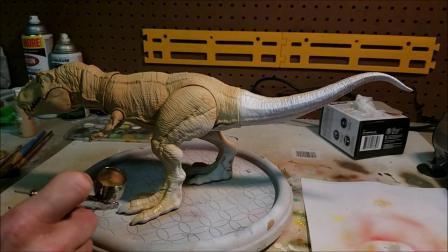 【大帅模玩】侏罗纪暴龙 霸王龙 恐龙重涂 模型重涂教程