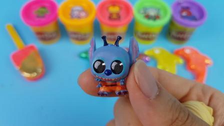 用6个冰淇淋学习数字和颜色让海豚玩惊喜蛋玩具