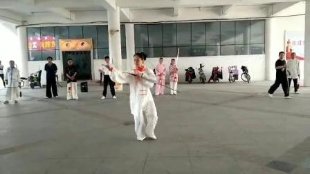 山东邹城宋蕾18年五月演练武当太极剑